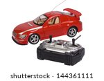 remote controlled toy car with... | Shutterstock . vector #144361111
