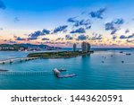 The Phoenix Island located in the Southeast Part of Sanya Bay is an Artificial Archipelago Consisting of Two Landmasses Forming an Island Resort in Sanya, Hainan, China.