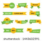 set of sale tags and labels ... | Shutterstock .eps vector #1443632591