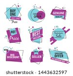 set of sale tags and labels ... | Shutterstock .eps vector #1443632597