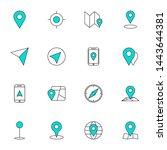 gps  maps  travel  navigation... | Shutterstock .eps vector #1443644381