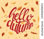 hello autumn custom typography... | Shutterstock .eps vector #1443650651