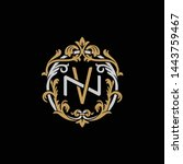 initial letter n and v  nv  vn  ... | Shutterstock .eps vector #1443759467