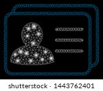 bright mesh account cards with... | Shutterstock .eps vector #1443762401