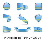 aruba flags collection. flags... | Shutterstock .eps vector #1443763394