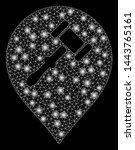 bright mesh auction hammer... | Shutterstock .eps vector #1443765161