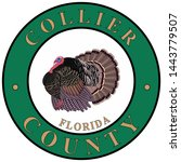 coat of arms of collier county... | Shutterstock .eps vector #1443779507