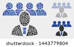 collage boss icon composed of... | Shutterstock .eps vector #1443779804