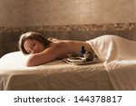 beautiful young woman in a spa... | Shutterstock . vector #144378817