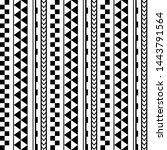 vector ethnic seamless... | Shutterstock .eps vector #1443791564