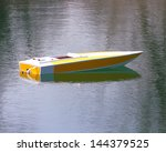 An Rc Boat On The Water