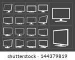 tv and monitor white web vector ...