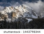 dolomites mountains in italy... | Shutterstock . vector #1443798344