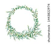 floral wreath.garland with... | Shutterstock . vector #1443822974