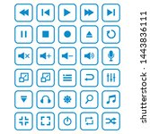 set of media player icon vector ...