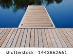 Wooden dock in a lake in a...