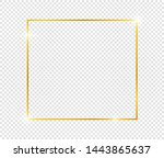gold shiny glowing frame with... | Shutterstock .eps vector #1443865637