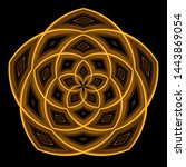A Five Pointed Golden Mandala...