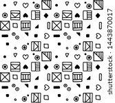 seamless vector pattern.... | Shutterstock .eps vector #1443870017