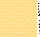 yellow baby background. polka... | Shutterstock .eps vector #1443889397