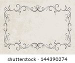 decorative frame   raster copy . | Shutterstock . vector #144390274