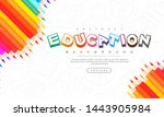 abstract education background ... | Shutterstock .eps vector #1443905984