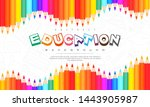 abstract education background ... | Shutterstock .eps vector #1443905987