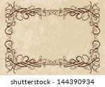 elegant vintage frame  raster... | Shutterstock . vector #144390934
