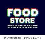 vector colorful emblem food...   Shutterstock .eps vector #1443911747