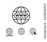 website icon or web  site  www... | Shutterstock .eps vector #1443932417