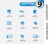 shopping icons blue version... | Shutterstock .eps vector #144394189
