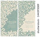 wedding invitation cards... | Shutterstock .eps vector #144395089