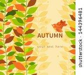 autumn concept seamless...   Shutterstock .eps vector #144396481