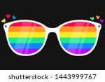 sunglasses with lgbt rainbow...   Shutterstock .eps vector #1443999767