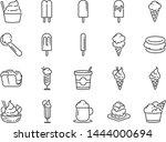 ice cream line icon set.... | Shutterstock .eps vector #1444000694