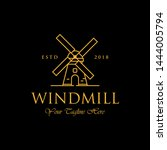 line art windmill logo designs  ... | Shutterstock .eps vector #1444005794