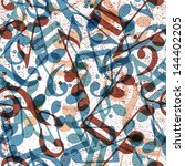 Musical Notes Seamless Pattern...