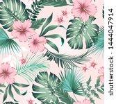 vector seamless botanical... | Shutterstock .eps vector #1444047914