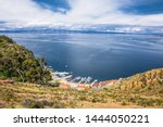 panoramic view on small village ... | Shutterstock . vector #1444050221