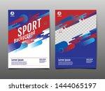 layout template design  sport... | Shutterstock .eps vector #1444065197