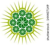 peyote cactus  mexico   aztec... | Shutterstock .eps vector #144407149