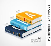 modern infographic template... | Shutterstock .eps vector #144409381