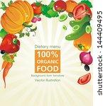 abstract elegance food... | Shutterstock .eps vector #144409495