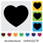 human heart icons   signs   or... | Shutterstock .eps vector #144410179