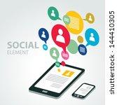 social icon group element | Shutterstock .eps vector #144410305