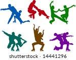 figure skating couples | Shutterstock . vector #14441296