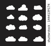 set of cloud icons vector... | Shutterstock .eps vector #1444139174
