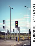 traffic lights for cars on a... | Shutterstock . vector #1444175051