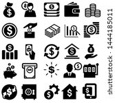 money vector icons set. bank... | Shutterstock .eps vector #1444185011