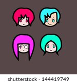 simple characters set | Shutterstock .eps vector #144419749